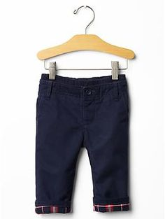 Lined pull-on khakis
