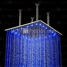 Contemporary Rain Shower Brushed Feature for  LED / Rainfall , Shower Head 2017 - $221.99