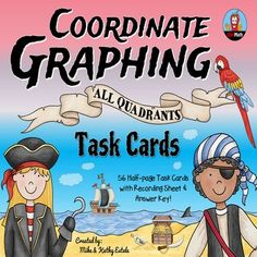 Coordinate Graphing Task Cards {All Quadrants} $