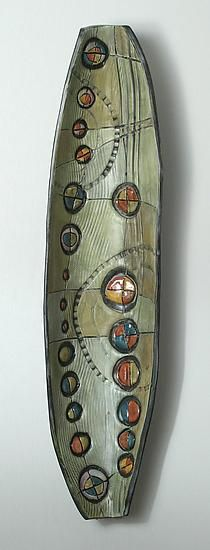 Abstract Time Wall Pod by Janine Sopp: Ceramic Wall Art available at www.artfulhome.com