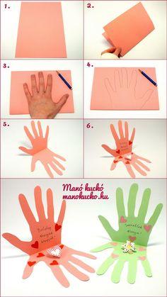 anyák napjára képeslap készítés