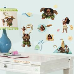 Disney Moana Peel and Stick Wall Decals Brown & Bubble Guppies Character Burst Peel and Stick Giant Wall Decal ...