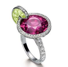 Sassy pink cocktail ring - literally designed after a cocktail!