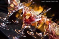 Ceviche Summer Style de peixe branco com tomatinhos grape marinados no siciliano - Captains Buffet