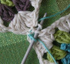 Mormorsrutor. Tips på hur man sammanfogar mormorsrutor. Crochet Motif, Blankets, Band, Knitting, Tips, Color, Ska, Sash, Tricot