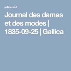 Journal des dames et des modes | 1835-09-25 | Gallica