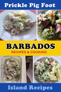 Prickle pig foot souse, the best pudding and souse can be found in Barbados, visit us for the recipe. Barbados Resorts, Punta Cana Vacations, Island Food, Large Bowl, Food To Make, Yummy Food, Delicious Recipes, Sweet Treats, Cooking Recipes