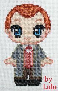 Harry Potter Arthur Weasley Cross Stich Pattern FREE  - by Lulu
