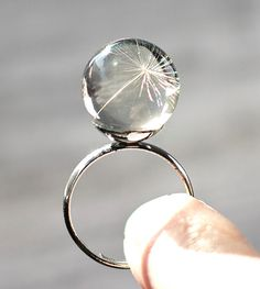 Dandelion Jewelry Dandelion Seed Silver Ring by TheHangingGarden, $27.00