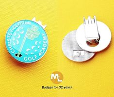 Cap/bag clip golf marker badges let ML UK supply your golf club, we supply local to the iconic clubs - small quantity orders no problem. Name Badges, Pin Badges, Make Your Own Badge, Custom Badges, Bag Clips, Markers, Charity, Golf, Cap