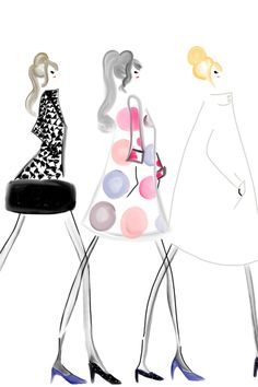 DESIGNSbyBC: Wearing Lisa Perry Fall 2013 #fashionillustration #bybc #mod