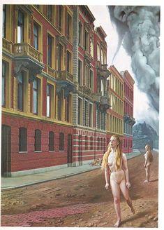 ontvluchte nonnen (Escaped Nuns), oil on canvas, 150 x 110 cm, private collection Popular Artists, Dutch Painters, Magritte, Dutch Artists, Surreal Art, Landscape Architecture, Surrealism, Oil On Canvas, Contemporary Art