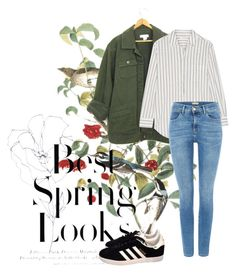 """""""Spring has finally sprung"""" by estellenath on Polyvore featuring mode, Blume, H&M, Equipment, Levi's et adidas"""