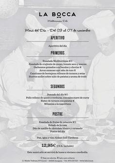 GASTRONOMÍA EN ZARAGOZA: Menú del dia en el Restaurante La Bocca - Mediterr...