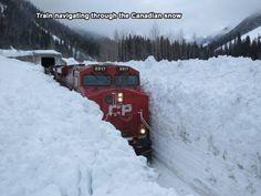 Canada snow walls