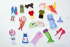 Snugglebug University: Fabric Printable Dress-Up Dolls