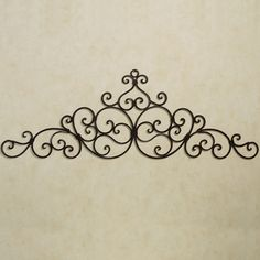 A swirling scroll design decorates the Aberdeen Antique Gold Indoor/Outdoor Wall Grille. Handcrafted of wrought iron, this wall grille has a handpainted. Iron Wall Art, Metal Tree Wall Art, Gold Wall Decor, Metal Wall Decor, Wrought Iron Wall Decor, Mediterranean Home Decor, Iron Furniture, Tuscan Decorating, Metal Walls