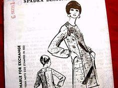 TIZIANI Designer Spadea Pattern 1960s Dress by PatternsFromThePast, $35.00