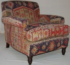 Nice Handmade In Our Yorkshire Workshop U0026 Upholstered In A Beautiful Antique  Anatolian Kilim   This Chair