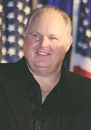 Rush Limbaugh.  Talk radio personality.  His program is to be credited for sparking a renaissance in alternative Conservative media.