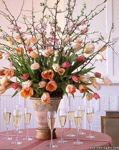 Love this large vase of tulips. TG.  The Relished Roost