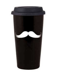 Reusable mustache coffee cup, Joel would think this is hilarious Coffee Break, My Coffee, Coffee Shop, Coffee Cups, Drink Coffee, Coffee Latte, Retro, Monochrome, At Least