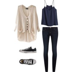 cute teen outfit - cute casual look for school