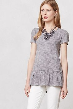 nora peplum top / anthropologie