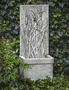 You will always see a dragonfly in your garden because of the Dragonfly Wall Fountain.