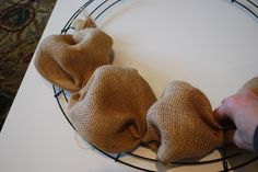 How to Make a Burlap Wreath | How to Make a Burlap Wreath | Amanda Jane Brown ... Seems pretty easily adapted for similar fabrics/ribbons using the same techniques :)