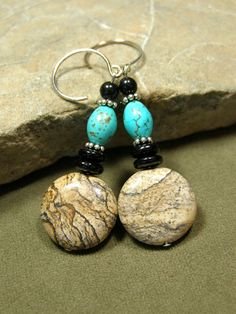 Turquoise Earrings  Dangle Earrings  Southwest by StoneWearDesigns