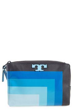 Tory Burch 'Medium Stripe T' Cosmetics Case | Nordstrom