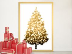 Black and gold sparkle Christmas tree alternative, large