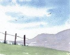 simple mountains and fence