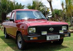 1987 Datsun 1400 pick up. A local favorite and still going strong Nissan Sunny, Nissan Trucks, Nissan Infiniti, Mini Trucks, Car Insurance, Old Cars, Cars And Motorcycles, South Africa, Classic Cars