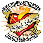 Multiple Sclerosis Classic Heart SUPPORT * EDUCATE * ADVOCATE *  LOVE