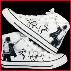 5479adf29b1 Michael Jackson shoes Hand-painted converse all star Shoes sneaker in memory  of king of