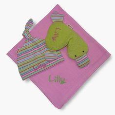 Destrezza Toy -. 3 pezzi Gift Set per la nascita o il battesimo * Lilly * - un pezzo di design di bySaM su DaWanda