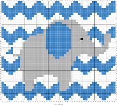 Elephant Chevron Baby c2c