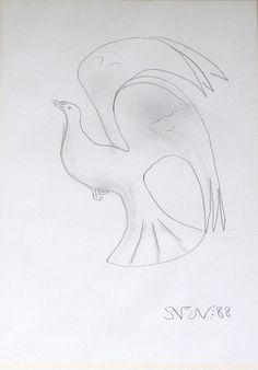 ' Dove in Flight ', Pencil Drawing by Sven Berlin online at www.navigatorarts.co.uk promoting Cornish Art.