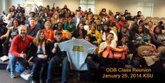 Orange Duffel Bag Initiative Class Reunion at Kennesaw State University January 25, 2014 was a brilliant orange day! ODB grads were reunited with alum, their coaches,advocates, officers, board members and authors of My Orange Duffel Bag! KSU provided space and basketball tickets to watch and cheer on the Owls! Team Orange rocks! www.theODBi.org