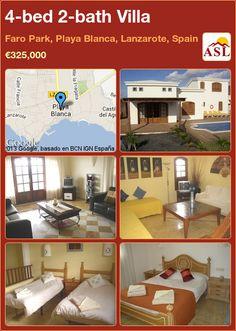 4-bed 2-bath Villa in Faro Park, Playa Blanca, Lanzarote, Spain ►€325,000 #PropertyForSaleInSpain