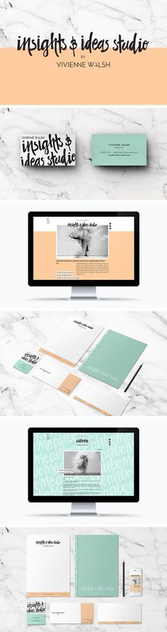 Insights & Ideas Studio branding, business cards, website and stationary by Smack Bang Designs