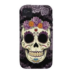 Vintage Skull and Roses iPhone Case-Mate Tough iPhone 4/4S Cases