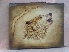 "unique Pyrography | Item #101 Availability; IN STOCK . Price $84.95 USD. ""Howling Wolf"" ($ ..."