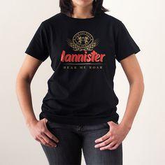 Cerveza Lannister - Tienda de camisetas LolaCamisetas