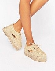 ASOS JASPER Chunky Lace Up Espadrilles