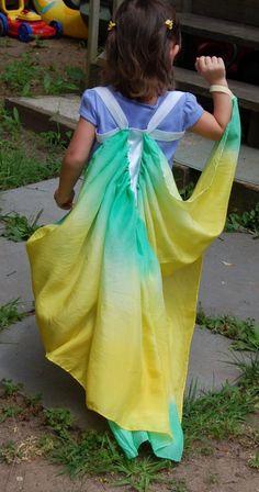 Hand dyed silk Butterfly Wings by HeroesAndButterflies on Etsy, $35.00