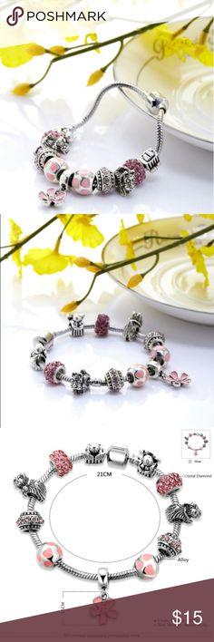 Fashion Charm Bracelet 21 cm Fashion bracelet ideal for any occasion. Jewelry Bracelets
