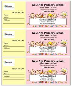 create tickets template